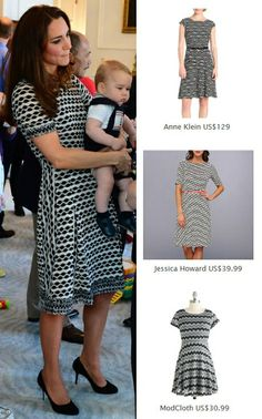 Kate Middleton Style Inspiration. SHOP repliKates of the Tory Burch 'Paulina' dress