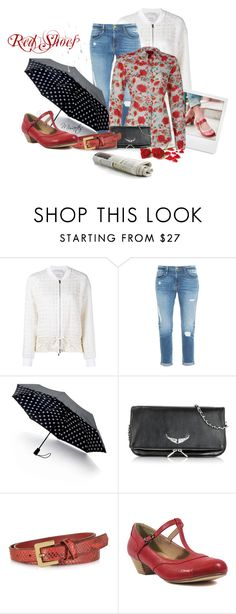 """She Wore Red Shoes By The News-Stand ~ (Group Contest)"" by misartes ❤ liked on Polyvore featuring 3.1 Phillip Lim, Frame Denim, Saks Fifth Avenue Collection, Polaroid, Zadig & Voltaire, Forzieri, Chelsea Crew, RedShoes, groupcontest and fashionfever"