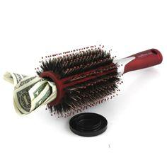 Hair brush as money hiding place