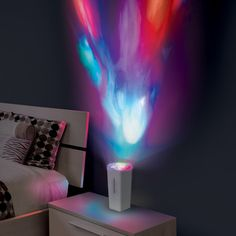 Lightshow DJ moves to the beat of your music, creating mesmerizing patterns on your wall.