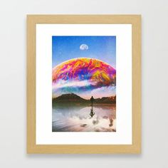 Surreal Collage, Wall Decor, Wall Art, Sci Fi Art, Wood Colors, Dark Wood, Framed Art Prints, Wall Tapestry, Surrealism