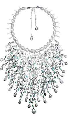 The Queen of Atlantis pearl and gemstone necklace by Autore