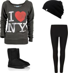 """""""Lazy day outfit!"""" by lostbutnotfound ❤ liked on Polyvore"""