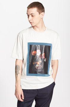 AMI Alexandre Mattiussi Flocked Rose Print Shirt