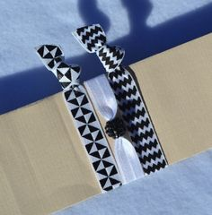 Pinwheel Hair Ties by ShillysFrillies on Etsy