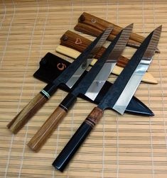 TC Blades Japanese style kitchen cutlery want sooo bad.