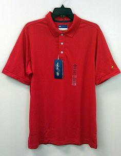 Just $29.99 & Free Ship !! Jack Nicklaus Polo Golf Shirt NEW/NWT Asst Sizes Tango Red Stay Dri $50 Retail #JackNicklaus #PoloShirtGolf