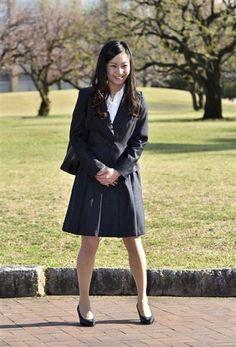 入学式のため国際基督教大に登校された秋篠宮家の次女佳子さま=2日、東京都三鷹市(ロイター)
