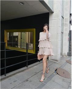 Lovely Frill Dress! Korean Fashion Online Shopping Website   Korean Clothing.