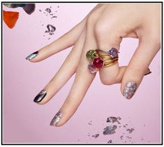 GlamSlam  Are you a glamorous girl? Then this nail design is made for you! Available at Dashing Diva Design FX.