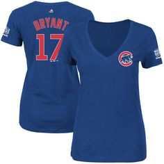 Kris Bryant Chicago Cubs Majestic Women's 2016 World Series Champions Name & Number T-Shirt - Royal - $31.99