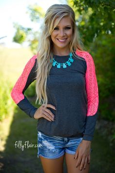 I Spy Lace in Neon Coral