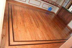 Drifting Leaves Hardwood Floor Borders Wood Floor Border
