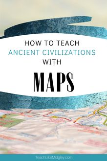 Looking for ways to use maps with your instruction? When teaching about ancient civilizations that were located all over the world, it's important to help your students understand where these societies formed and how the geographical features affected their daily lives.  #ancientcivilizationsmaps  #ancientcivilizationmaps  #teachinghistory #ancienthistory  #geography #geographicfeatures  #teachlikemidgley Ancient Civilizations Lessons, Teaching 6th Grade, Teaching Philosophy, Classroom Hacks, Teaching Techniques, Teaching History, Group Work, Teaching Strategies, Ancient History
