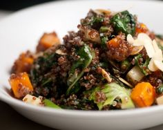 Warm Quinoa Salad with Orange-Blossom Vinaigrette Recipe #vegetarian #salad #quinoa