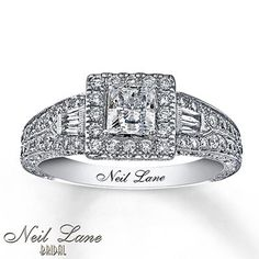 Engagement Rings Simple | Neil Lane Neil Lane Engagement Ring 1 ct tw Diamonds 14K White Gold *** Check out this great product. Note:It is Affiliate Link to Amazon. #EngagementRingsVintage
