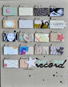Here we go ... all lined up in a row, again. ohhh. I love this! And the journaling on the little tabs is brilliant! Dani Donner