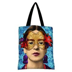 Lady's bags Frida Kahlo art print mexican art Bag by giftsforloved