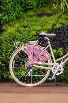 Pink Bicycle Skirt Guard, Bicycle Dress Guard, Bicycle Accessories, Bike Accessories, Lace Crochet Accessories, Beach Cruiser, Cycling via Etsy