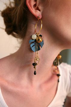 supermandolini tropic earrings by AphroChic, via Flickr