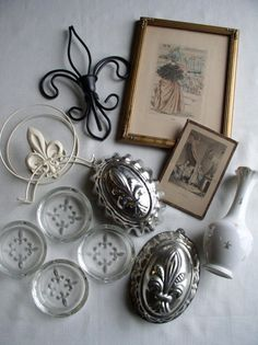 Vintage French Fleur-de-Lis Lot French Collectibles by vintage541