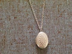 Small White Patina Silver Locket Delicate Chain by LoveLockets, $20.00
