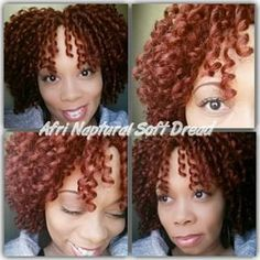 Crochet Braids By Twana Crochet Braids with Afri Naptural Soft Dread Loc (. Box Braids Hairstyles, Try On Hairstyles, Pretty Hairstyles, Hairstyle Ideas, Hair Ideas, Crochet Braid Styles, Crotchet Styles, Soft Dreads, Curly Hair Growth