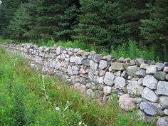 stone wall along hilly road - Google Search