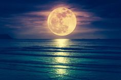 Picture of Super moon. Colorful sky with cloud and bright full moon over seascape in the evening. Serenity nature background, outdoor at nighttime. The moon taken with my own camera. stock photo, images and stock photography. Moon Related Names, May Full Moon, Corn Moon, Tres Belle Photo, Moon Pictures, Pink Moon, Lunar Eclipse, Beautiful Moon, Super Moon
