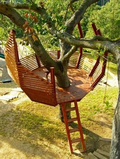 Check out these 8 tips for building your own backyard treehouse. Check out these 8 tips for building your own backyard treehouse. Backyard Treehouse, Building A Treehouse, Backyard Hammock, Backyard Landscaping, Treehouse Ideas, Hammock Ideas, Landscaping Ideas, Diy Hammock, Easy Diy Treehouse