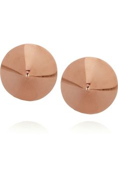 Eddie Borgo | Rose gold-plated cone stud earrings | NET-A-PORTER.COM