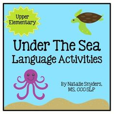Target upper elementary speech language therapy goals (categories, similarities, differences, sequencing, inferencing, and describing) with this adorable ocean-themed activity!
