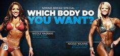 Bikini vs. Figure Workout and Nutrition