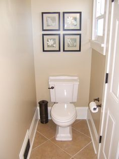 Finished our small powder room -- I mean small! - Bathrooms Forum - GardenWeb