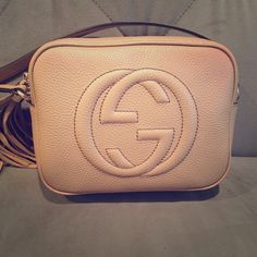 Brand NEW, never worn Gucci soho Crossbody bag! Brand NEW with authenticity tags and dust bag, tan, leather Gucci soho Crossbody bag purchased during a recent visit to Italy! Gucci Bags Crossbody Bags