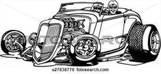 Vintage Hot Rod Posters | automobile, car, cartoon, convertible, hot rod, hotrod, View Large ...