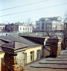 View from Ipatiev house roof prior to demolition to Kharitonov house.