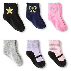 Baby Girls' Ankle Socks 6 pk Circo™ - Multicolored : Target