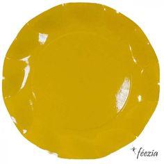 Assiette Jaune / yellow plate #hawaii #fete