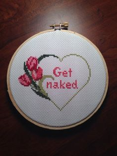 Get Naked Flower CrossStitch by LeaveYouInStitches on Etsy