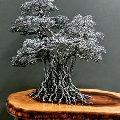 Wire Art Sculpture, Tree Sculpture, Copper Wire Art, Bonsai Wire, Tree Faces, Maori Art, Wire Trees, Scrap Metal Art, Metal Tree