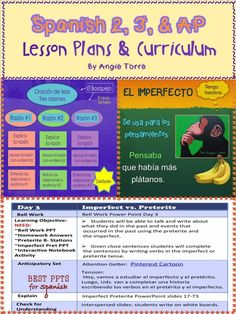 Spanish Two, Three, And AP Lesson Plans and Curriculum for an Entire Year.  Everything you need to teach Spanish Two, Three, and AP.  Save a bundle by buying them all together.  No prep!  No book needed for Spanish Two and Three.  Includes Power Points, INB Activities, Homework, Lesson Plans, Audio Practice, TPR Stories, Comprehensible Input, Quizzes and Tests, Games,  and much more.