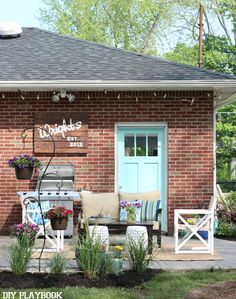 We teamed up with Lowe's Home Improvement to makeover the patio of a family in Buffalo, Come see our Lowe's Patio Makeover Reveal right here!