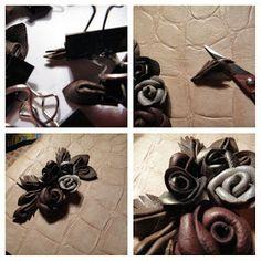 Мастер класс розы из кожи в блоге Бобровая хатка Leather Tutorial, Irish Lace, Leather Jewelry, Napkin Rings, Decor, Decoration, Decorating, Napkin Holders, Deco