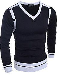 Men's Pullover , Cotton Long Sleeve