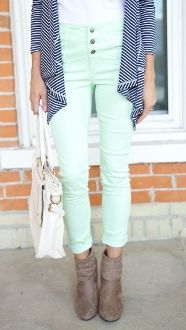 High Waisted Jeans are a MUST this season!! We've got these adorable MINT only available at The Nest on Main!!