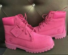 Shop Women's Timberland Pink size 7 Lace Up Boots at a discounted price at Poshmark. Description: Pink timberlands size Sold by robxn_. Pink Timberlands, Timberlands Women, Pink Timberland Boots, Grunge Style, Soft Grunge, Shoe Boots, Ankle Boots, Shoes Heels, Combat Boots