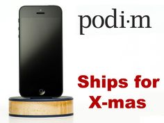 Podi-m: a beautiful dock that matches your iPhone or iPad by Laine Scandalis, via Kickstarter.