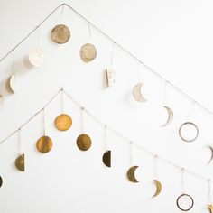 Moon Garland in Brass and Silver