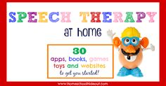Speech therapy at home doesn't have to be hard. With easy access to websites, games, books, apps and toys, even the weary can do it! Articulation Activities, Autism Activities, Speech Therapy Activities, Child Psychotherapy, Toddler Speech, Play Therapy Techniques, Games For Toddlers, Social Thinking, Easy Access